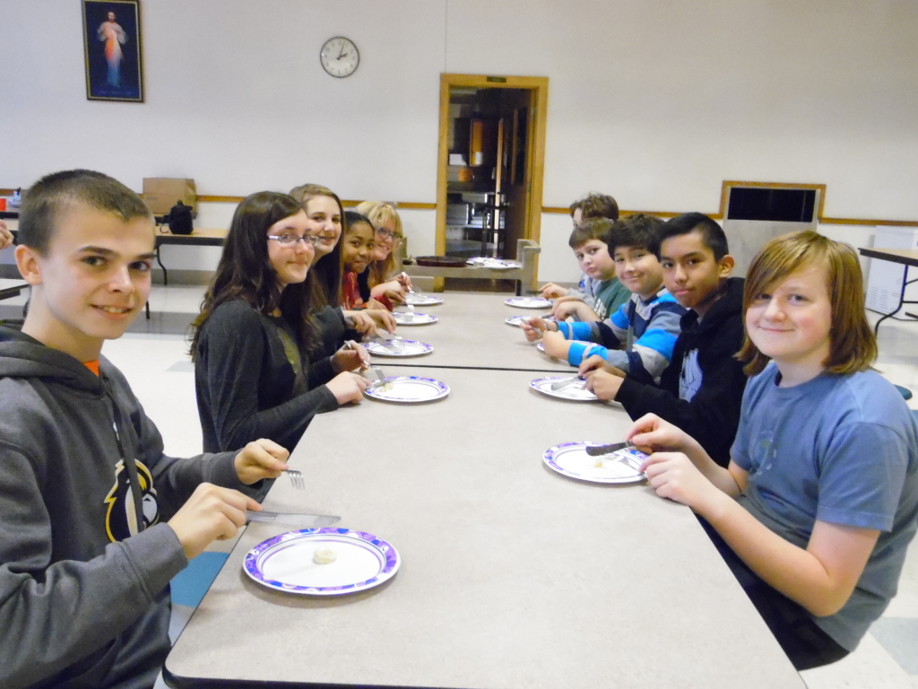 German class learning European table etiquette